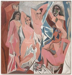 "Les Demoiselles d'Avignon (1907), also by Picasso in a different style (""Picasso's African Period"") four years later."