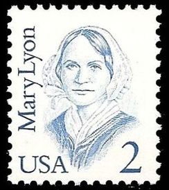 1987 U.S. commemorative stamp from the Great Americans series honoring Lyon.