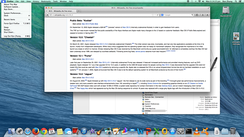 A screenshot of OS X Mavericks