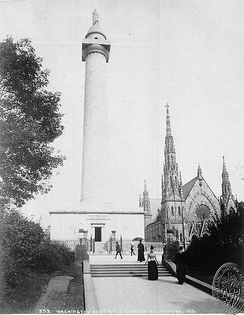 Baltimore's Washington Monument, 1890 (looking north)