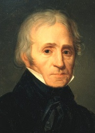 oil painting of head and shoulders of white man in early 19th-century costume, with receding grey hair and neat side-whiskers