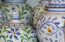 Traditional hand-painted pottery from Porches