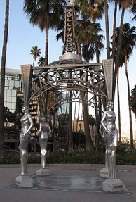 The Four Ladies of Hollywood gazebo at the Walk of Fame's west end