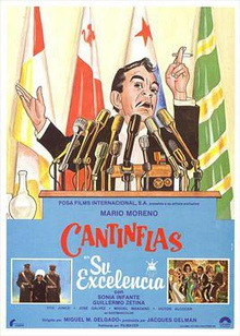 Movie poster for the 1967 film, Su Excelencia, starring Mexican comedian Cantinflas.jpg
