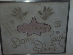 The handprints of Dom DeLuise in Atlantic City, New Jersey
