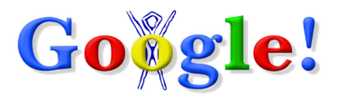 The first ever Google Doodle celebrating Burning Man, which was used on August 30, 1998.