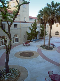 "Courtyard of the Memorial Student Union Building, referred to as the ""MSUB"" or ""SUB"" by students"