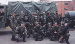 The Combat Guard undergoing training at Fort Dix, New Jersey in March 2001---six months before 9-11.