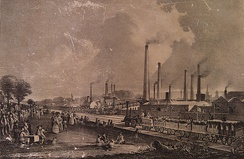 Levels of air pollution rose during the Industrial Revolution, sparking the first modern environmental laws to be passed in the mid-19th century.