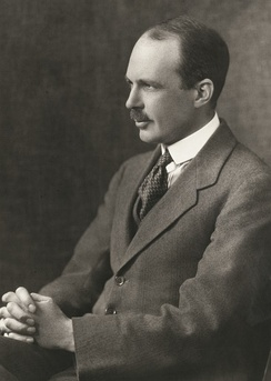 Portrait of William Lawrence Bragg taken when he was around 40 years old.