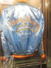 1982 tour jacket of Muddy Waters, member of the inaugural class of inductees