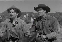 L. Q. Jones (Smitty) and Clint Walker (Cheyenne)