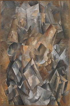 Georges Braque, late 1909, Still Life with Metronome (Still Life with Mandola and Metronome), oil on canvas, 81 x 54.1 cm, Metropolitan Museum of Art. Gift from the Leonard A. Lauder Cubist Collection