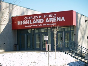Charles M. Schulz Highland Arena on Snelling Avenue and Ford Parkway in Saint Paul, Minnesota.