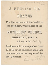 Notice for a prayer meeting in Ware, Massachusetts, dated September 8, 1881