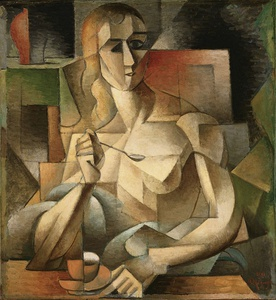 Jean Metzinger, 1911, Le goûter (Tea Time), oil on canvas, 75.9 x 70.2 cm, Philadelphia Museum of Art