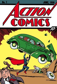 Action Comics No. 1, the iconic issue that introduced Superman and helped birth the superhero genre
