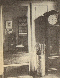 Interior view of Lamb House, James's residence from 1897 until 1914. (1898)