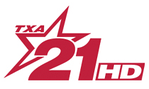 TXA 21 logo, used from 2006 to 2012; this variant was used since 2009. It is still in use on the station's promotions.