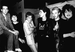 Members of the Cure who toured with Siouxsie and the Banshees in September and October 1979