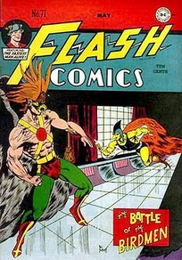 The Golden Age Hawkman, from Flash Comics # 71 (May 1946). Art by Joe Kubert