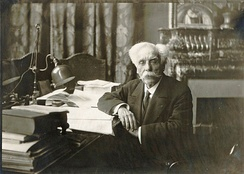Fauré in his office at the Conservatoire, 1918