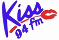 Kiss 94 FM logo from 1985-1989.