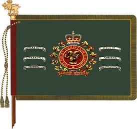 The regimental colour of The Rocky Mountain Rangers.