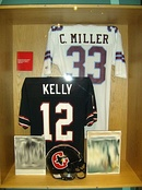 Kelly's USFL jersey on display at the Pro Football Hall of Fame