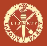"The original ""Liberty"" logo, in use until 1983"