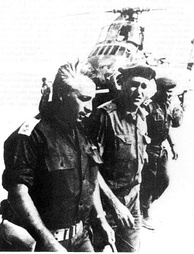 Major-General Ariel Sharon during the Battle of Abu-Ageila
