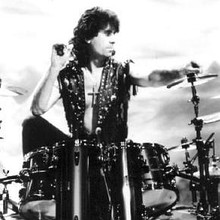 Cozy Powell in 1990 as a member of Black Sabbath