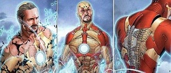 The Bleeding Edge Armor, like the Extremis Armor before it, is stored in Stark's bones, and can be assembled and controlled by his thoughts