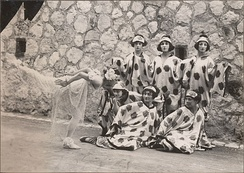 Le Chant du Rossignol, Tamara Karsavina with dancers. Costume designs by Matisse, 1920