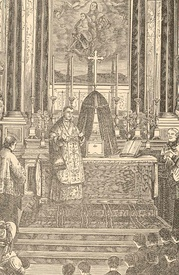 An 1819 picture showing Mastai-Ferretti at his first Holy Mass