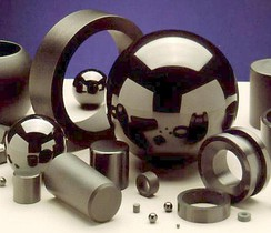 A selection of silicon nitride components.