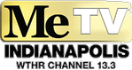 Logo for 13.3 MeTV Indianapolis.