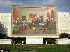 Mosaic of John Trumbull's Declaration of Independence
