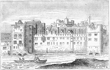 The Savoy Hospital in 1650 drawn by Wenceslaus Hollar
