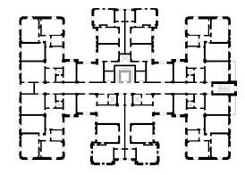 Typical floor plan, the Lopez Serrano Building