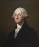 George Washington, 1825, one of Stuart's many copies of the Athenaeum Portrait, Walters Art Museum