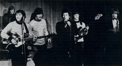 Bob Dylan making an impromptu guest appearance with the Byrds at Ciro's nightclub, March 26, 1965