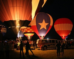The Balloon Glow was first performed at the Great Texas Balloon Race