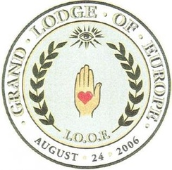 Seal of the IOOF Grand Lodge of Europe, chartered in 2006, instituted in June 2007 in Oslo, Norway.