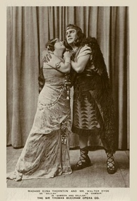 Walter Hyde and Edna Thornton in the 1919 London production of Samson and Delilah conducted by Sir Thomas Beecham