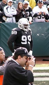 Sapp during his time with the Raiders.
