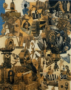 Hannah Höch, Cut with the Dada Kitchen Knife through the Last Weimar Beer-Belly Cultural Epoch in Germany, 1919, collage of pasted papers, 90×144 cm, Nationalgalerie, Staatliche Museen zu Berlin