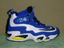 One of Ken Griffey Jr.'s signature sneakers, the Nike Air Griffey Max.