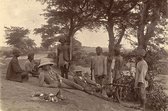 A Shikar party in Mandalay, Burma, soon after the conclusion of the Third Anglo-Burmese War in 1886, when Burma was annexed to British India