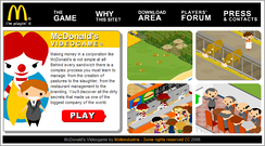 Screenshot from McDonald's Video Game
